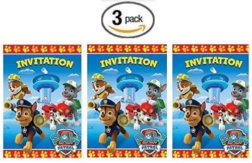 Paw Patrol 8ct Party Invitations - 3 Pack (Three Pack) for $<!--$11.97-->
