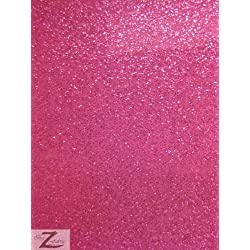 "VINYL FAUX FAKE LEATHER SPARKLE GLITTER FABRIC - Fuchsia - 54"" WIDTH SOLD BY THE YARD"