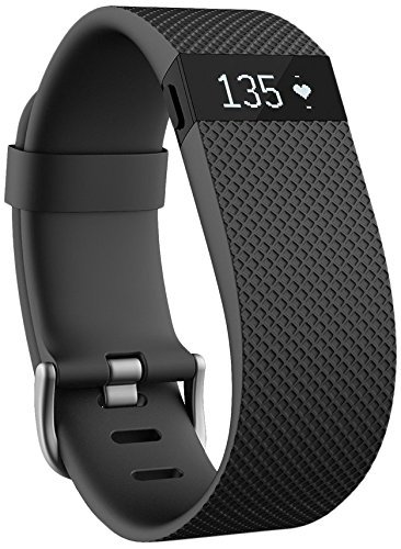 Fitbit Charge HR Wireless Activity Wristband (Black, Large (6.2 - 7.6 in)) by Fitbit