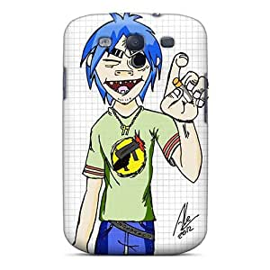 Protective Hard Phone Covers For Samsung Galaxy S3 With Unique Design Attractive Gorillaz Band Image TammyCullen