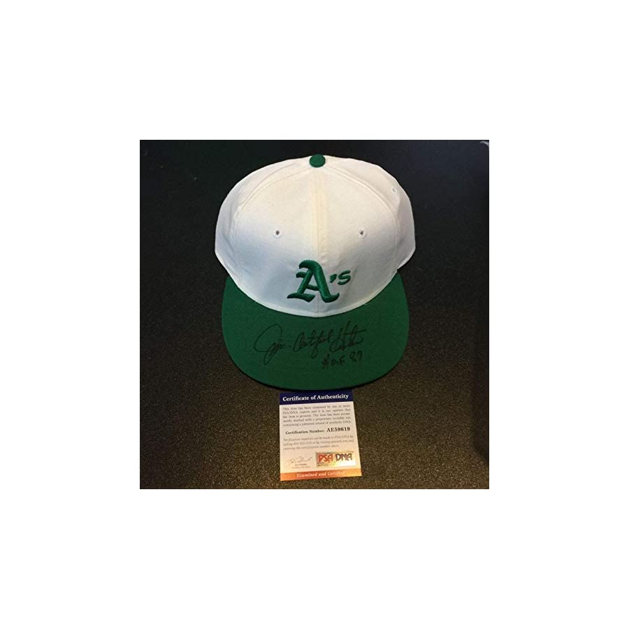 "RARE Catfish Hunter""HOF 1984"" Signed Game Model Oakland Athletics A's Hat PSA/DNA Certified Autographed Hats"