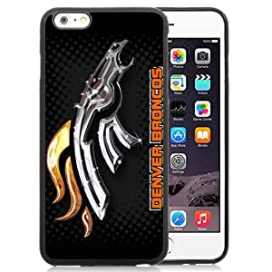 Denver Broncos Black Fantastic Recommended Customized iPhone 6plus 5.5 Inch TPU Phone Case