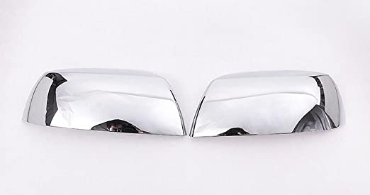 ABS Chrome Side Rearview Mirror Cover Trim 2pcs for Toyota Tundra Crew Max 2007-2016 for Toyota Sequoia 2008-2015