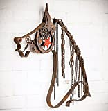Black Forest Decor Rustic Western Metal Horse with Chain Mane – Southwestern Decor