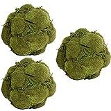 Lot Of 3 Artificial Decorative Moss Ball D6.5''