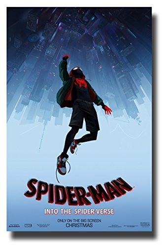 Spider-Man Into The Spider-Verse Poster Movie Promo 11 x 17 inches SpiderVerse Spiderman UPD Blue