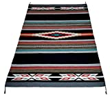Beautiful Hand-Woven Serape Area Rugs Featuring Feather Hawkeye Pattern. Three Sizes to Choose From. (HA4X6FEATHER1)