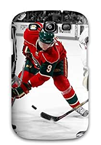 Tpu Case Cover Compatible For Galaxy S3/ Hot Case/ Minnesota Wild Hockey Nhl (89)