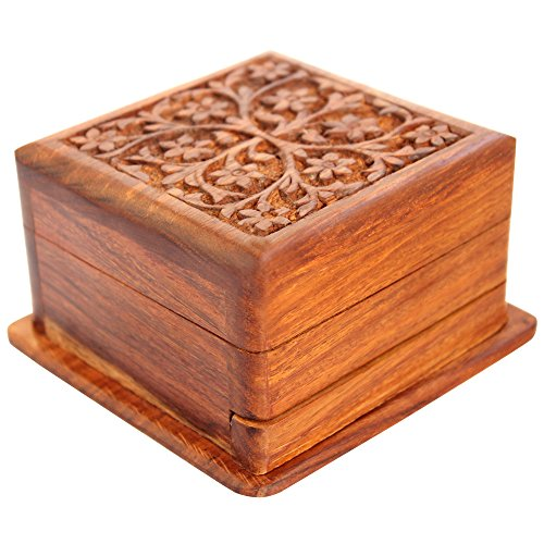 Indian Glance Jewelry Box | Magic Box | Secret Box - Gift Box With Trick Opening - Organiser Box for Women | Girls -