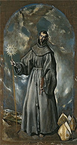 [Perfect Effect Canvas ,the High Resolution Art Decorative Prints On Canvas Of Oil Painting 'El Greco San Bernardino 1603 ', 10 X 19 Inch / 25 X 48 Cm Is Best For Dining Room Artwork And Home Gallery Art And] (Famous Musical Costume Designers)
