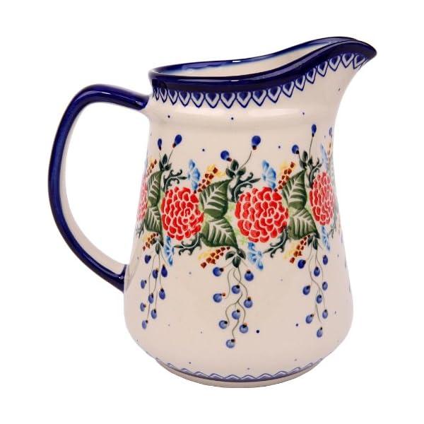 Polish Pottery Ceramika Boleslawiec 0208/280 Jacek 4 Pitcher, 5-1/2-Cup