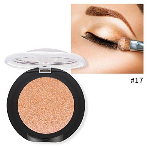 (Quartly Long Lasting Diamond Glitter Shimmering Colors Eyeshadow Palette Pearl Metallic Eye Shadow Press Powder Cosmetic Makeup (G))