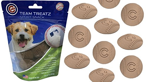 Mlb Chicago Cubs Dog Treats. Delicious Baseball Shaped Cookies For Dogs & Cats. Best Dog Rewards. Natural & Healthy Dental Dog Snack.