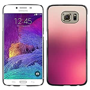 Planetar® ( Fog Hazy Blurry Colors Sunset Peach ) Samsung Galaxy S6 / SM-G920 / SM-G920A / SM-G920T / SM-G920F / SM-G920I Fundas Cover Cubre Hard Case Cover