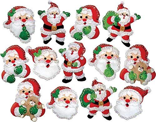 (Design Works Santa Ornaments Felt & Sequin Kit)