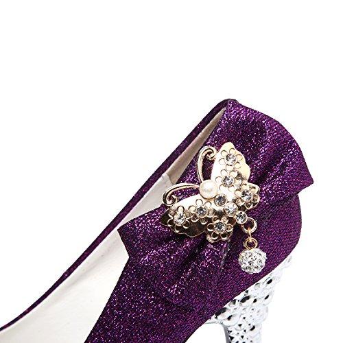 Partito E Scarpe Viola Da 2 Piattaforma Gatuxus Sposa Per Donne nodo Alti Piegare Pompa Che Wedding Del I Sandali ww1qnfTCS