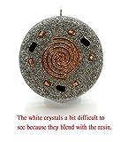Metatron's Cube Merkaba 7 Chakras w/Crystals Stones Orgone Pendant Generator Energy Accumulator EMF Protection 2.25 inch