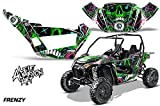 AMRRACING Arctic Cat Wildcat Sport XT Full Custom UTV Graphics Decal Kit Frenzy Green