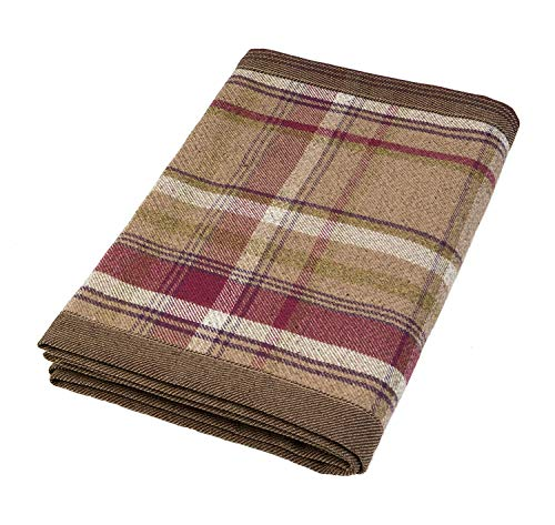 (McAlister Textiles Heritage | Decorative Table Runner in Mulberry Purple | 14 x 48 Inches | Plush Wool-Textured Flannel Buffalo Plaid | Tartan Check Farmhouse Cabin Accent Décor)
