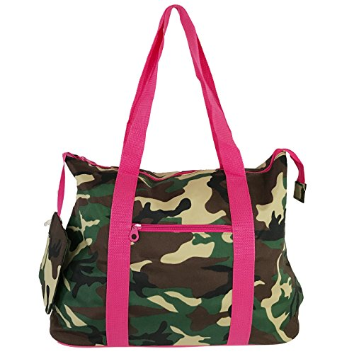 Allgala Tote Bag, Camouflage Fuschia-AE4418CMFS