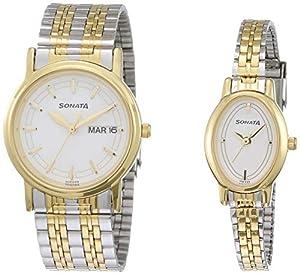 Sonata Analog Silver Dial Unisex Watch -NM11418100BM01 / NL11418100BM01