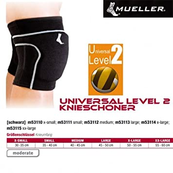 9e8c408d Mueller Universal Level 2 Knee Pads in BLACK TYPE: XS: Amazon.co.uk: Sports  & Outdoors