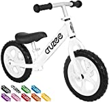 Cruzee Ultralite Balance Bike (4.4 lbs) for Ages 1.5 to 5 Years | White– Best Sport Push Bicycle for 2, 3 & 4 Year Old Boys & Girls– Toddlers & Kids Skip Tricycles on The Lightest First Bike 1