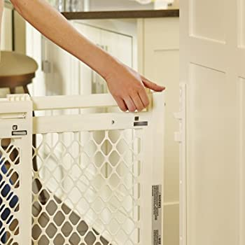 """Supergate Extra-wide Gate, Ivory, Fits Spaces Between 22"""" To 62"""" Wide & 31""""high 2"""