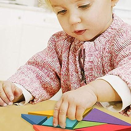 MEGA Kids Wooden Pattern Blocks Colorful Geometry Games Jigsaw Classic Educational Toys