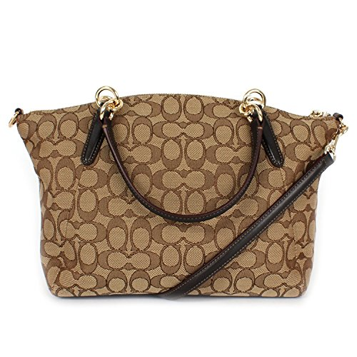 Handbag Satchel Shoulder Khaki Signature Brown Small Coach Bag Kelsey ngqAwRYB