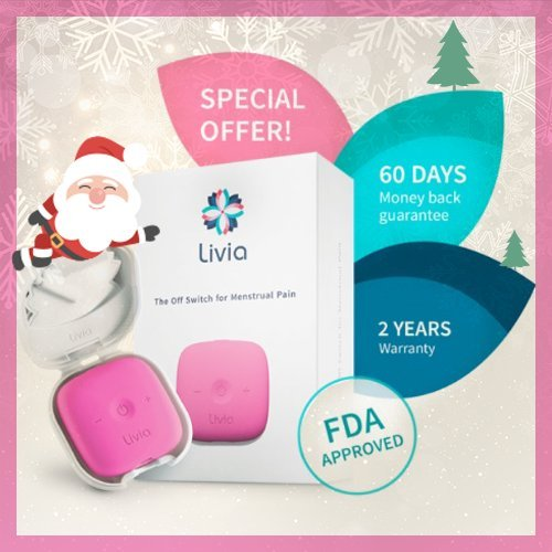Instant Period Cramps Relief - Drug-FREE Solution For Menstrual Cycle Pain - Revolutionary Electric Abdominal Treatment - Get Rid of Menses Aches - Compact Ally To Fight Menstruation Cramps - Pink by MyLivia