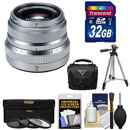 fujifilm-35mm-f-20-xf-r-wr-lens-silver-with-32gb-card-3-filters-tripod-case-kit-for-x-a2-x-e2-x-e2s-