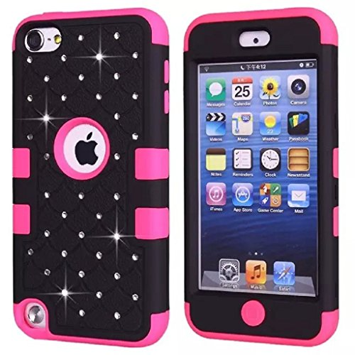 Urberry Ipod Touch 5 Case, Starry Diamond Dotted Case for Ipod Touch 5, Shock-proof Case with a Free Stylus