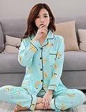 WWQY Women's Cotton Roman Knit Pajama , light green , l