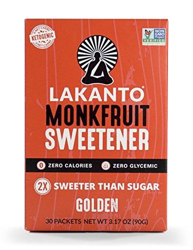 Lakanto Monk Fruit Sweetener, 30 Count (Golden, 30 Count)