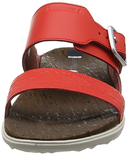 Red Sandales Incandescent Town Merrell fiery Femme Print Rouge Ouvert Bout Buckle Eu 42 Around Slide Xwqv6a