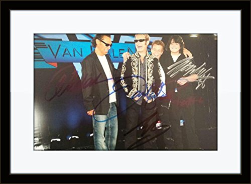 (Framed Van Halen Complete Band Autograph with Certificate of Authenticity)