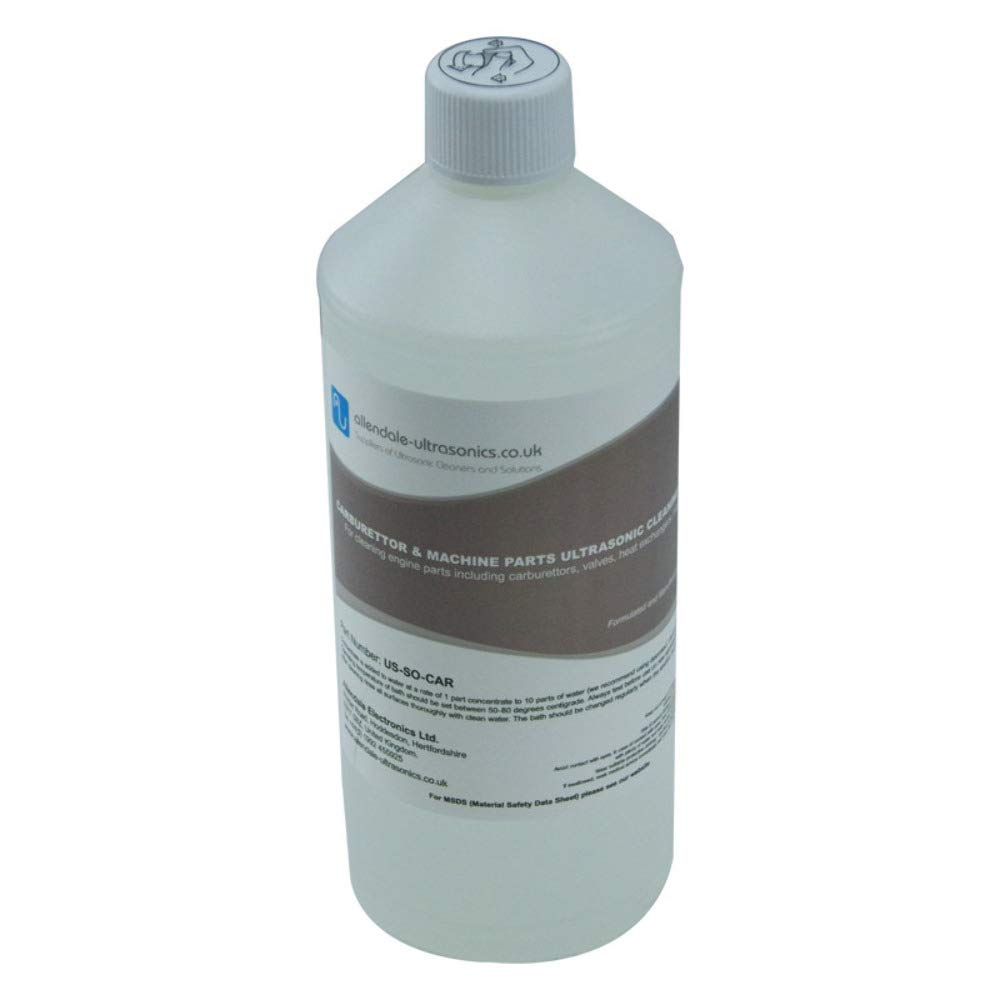 Carburettor, Machine, and Engine Parts Ultrasonic Cleaner Solution - 1 Litre Cleaning Fluid by Allendale Ultrasonics