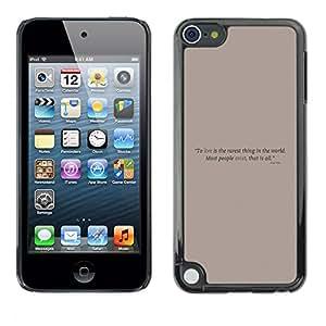 EJOY---Cubierta de la caja de protección la piel dura para el / Apple iPod Touch 5 / --Cartel de motivación