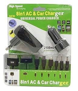 Multicargador 8en1 Galaxy Tab/Iphone/Micro USB/Mini USB/Jack CUSB040