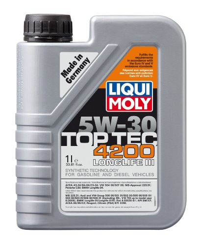 liqui moly 2011 top tec 4200 5w 30 synthetic motor oil 5. Black Bedroom Furniture Sets. Home Design Ideas