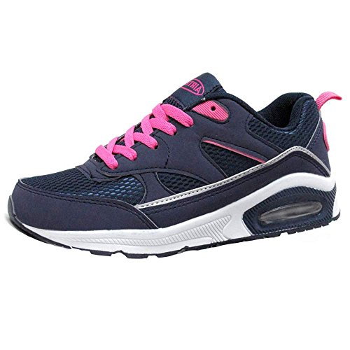 Navy Trainers Sports Shoes Running 5 Womens 6 Tech Ladies Shock Gym Size Air 8 3 Fitness 4 Pink Absorbing 7 UBq5p