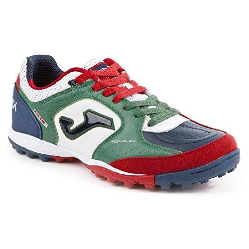 Joma Top Flex 726 Green White Turf - Scarpe Calcetto Uomo - Men's Futsal Shoes - Size ( EU 43.5 - CM 28.5 - UK 9 )