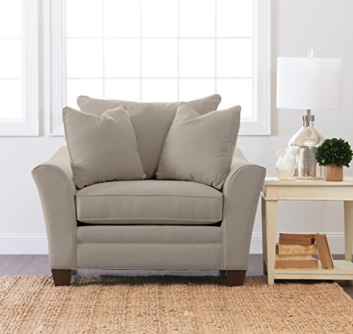 "Cheap Klaussner Home Furnishings Paxton Accent Armchair with 2 Throw Pillows, 44""L x 53""W x 31""H, Dune"