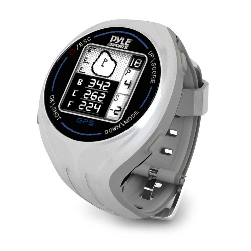 PYLE PSGF605GR Pyle GPS Smart Golf Watch with Course Recognition Green Locator Distance Calculator & Scoring System by Pyle