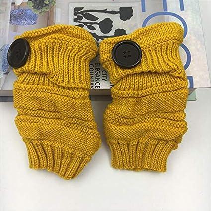 Demarkt Strickhandschuhe Wolle Handschuhe lange Fingerless Handschuhe Warme Strick Handschuhe Schwarz 16cm