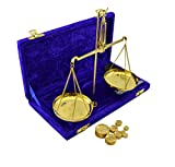 100gm Apothecary Scale with Velvet Box - Decor Item Made of Brass & MDF