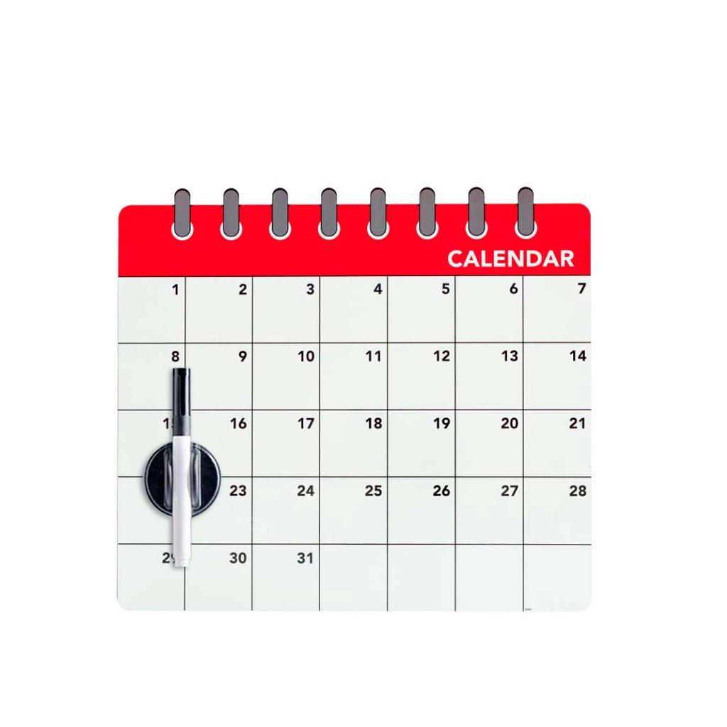 Balvi - Calendar Lavagna Magnetica per la Porta del frigo. Appunta la Lista della Spesa. Include Un Pennarello e Un cancellino. Di