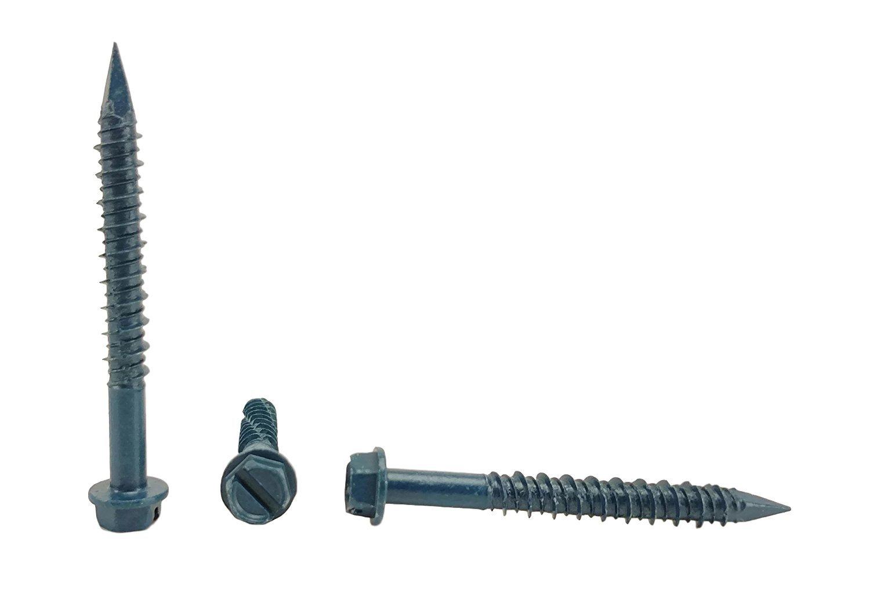 Chenango Supply 1/4 x 2-1/4'' Hex Head Concrete Screw Anchor. 100 pieces With Drill Bit (Miami-Dade Compliant) (1/4 x 2-1/4'')