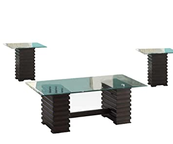 ACME Earleen Espresso Coffee End Table Set 3 Piece